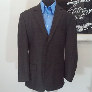 Bill Blass Glen Check Pattern Blazer Size 43R